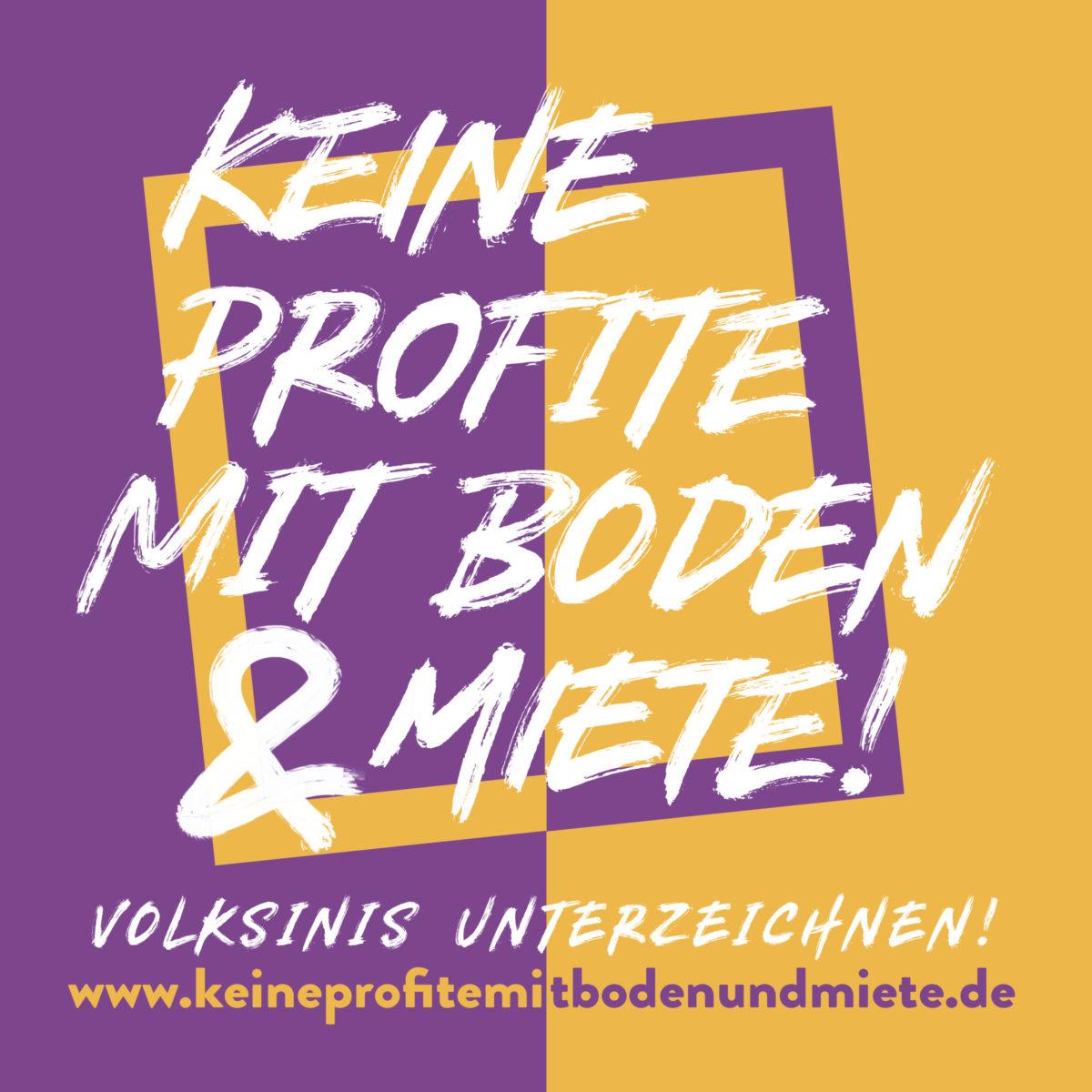 """Kraftakt für bezahlbares Wohnen: Erfolg der Initiativen""""Keine Profite mit Boden & Miete"""""""