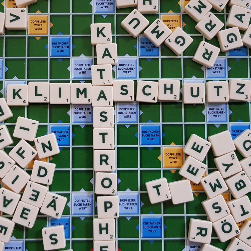 Klima Scrabbel Buchstaben