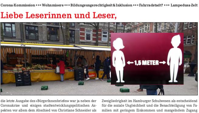 Ganz schön neu: Bürger*innen-Brief informiert