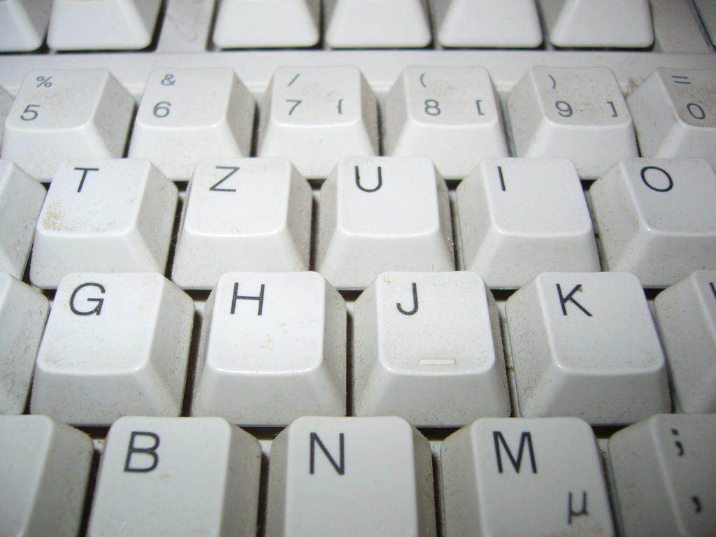 buchstaben tastatur