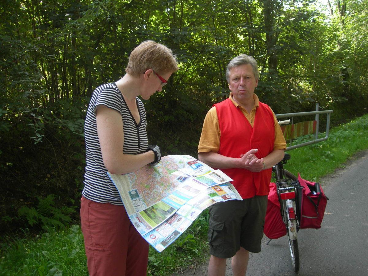 Kommunalpolitisches Radeln mit den Walddörfer LINKEN