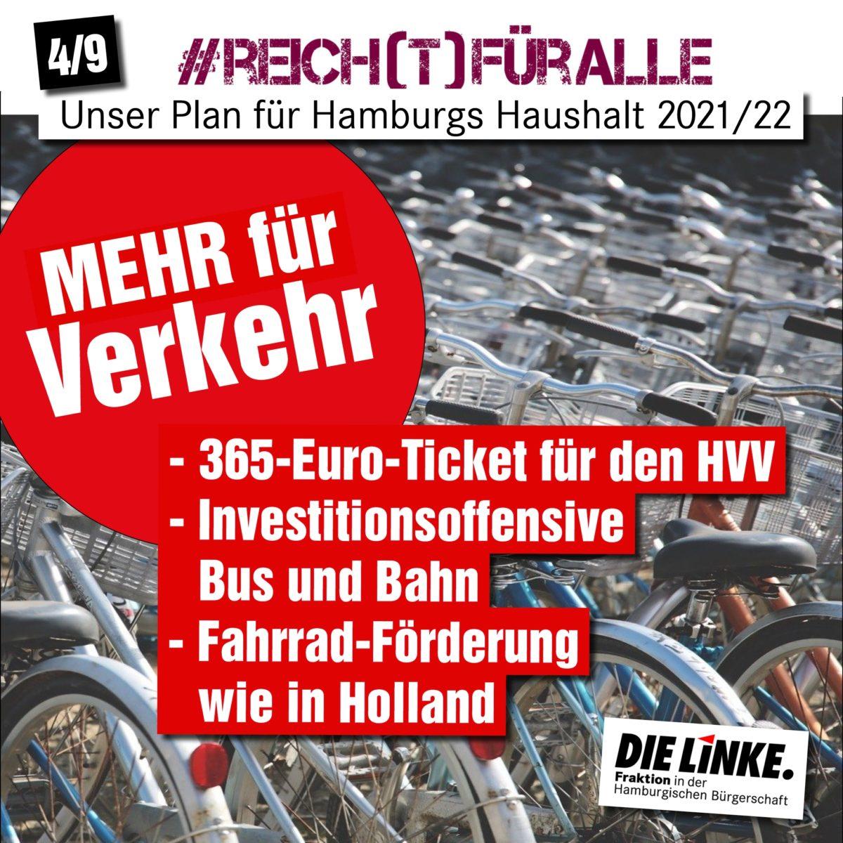 HVV: LINKE fordert 365 Euro-Ticket und kostenfreie Nutzung für junge Menschen und Leistungsbezieher:innen