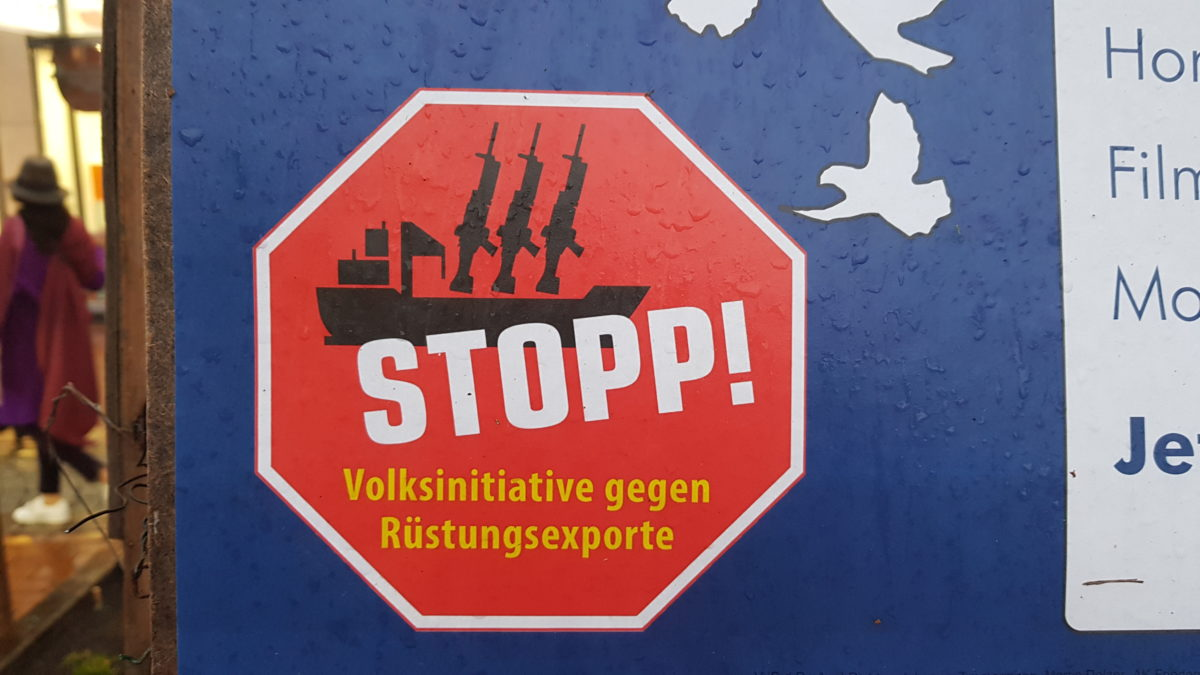 Stopp Rüstung: Hamburger Hafen ohne Waffen