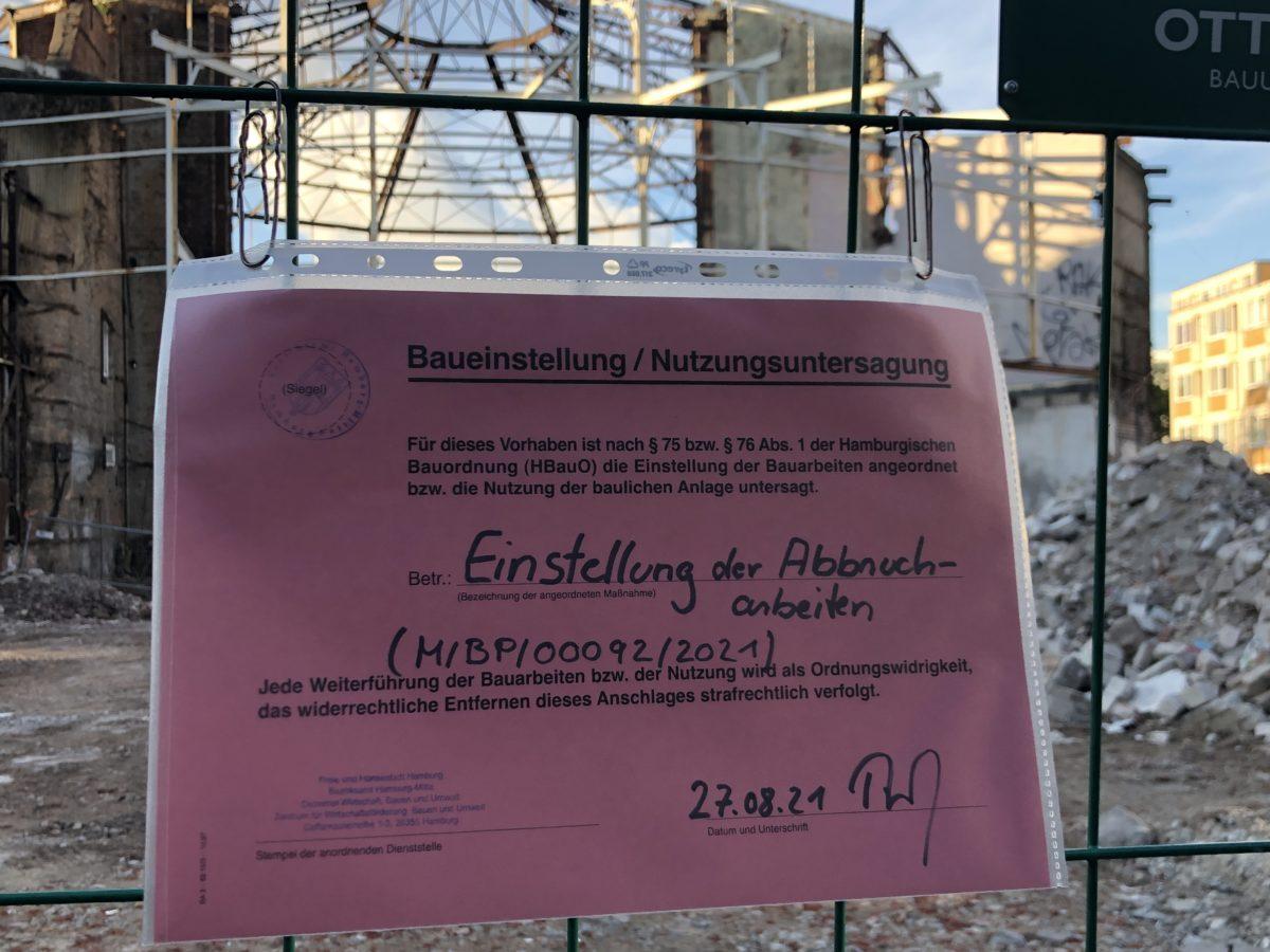 #Schilleroper – Einstellung der Abbrucharbeiten!!!!!